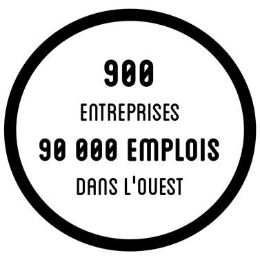 900 entreprise - 90 000 emplois dans l'ouest