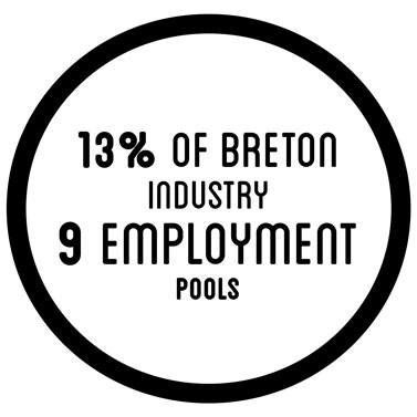 13% of breton industry 9 employment pools