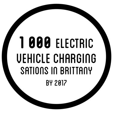1000 electric vehicle charging stations in brittany