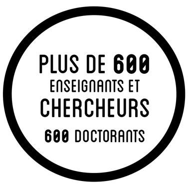 Plus de 600 enseignants et chercheurs