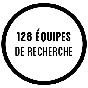 128 équipes de recherche