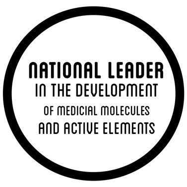 national leader in the developpement of medical molecule and active elements