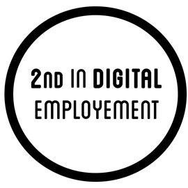 2nd in digital employement