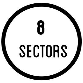 8 sectors