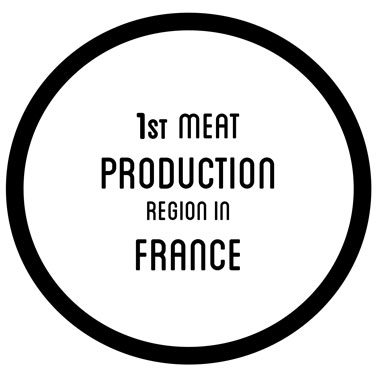 1st meat production region in France