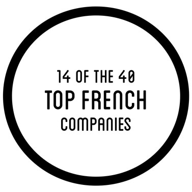 14 of the 40 top french companies