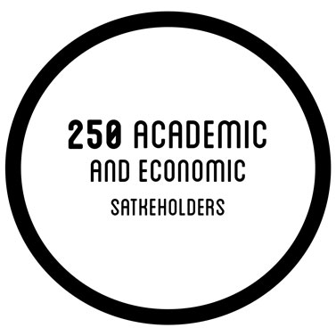 250 academic and economic satkeholders