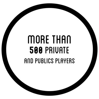 More than 500 private and publics players