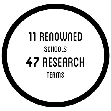 11 renowned schools - 47 research teams