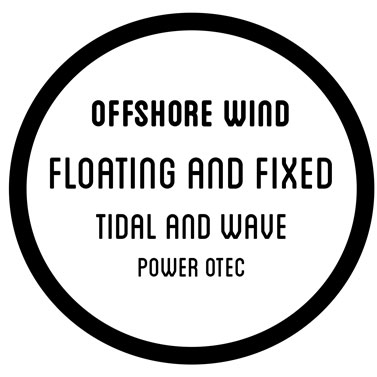 offshore wind floating and fixed tidal and wave  power otec