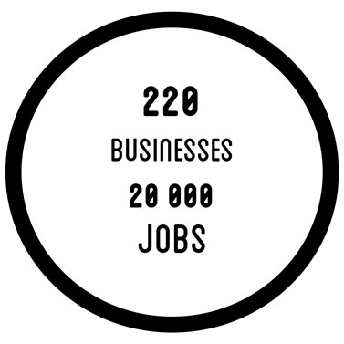 220 businesses - 20000 jobs