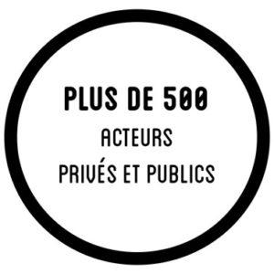 Plus de 500 acteurs privés et publics