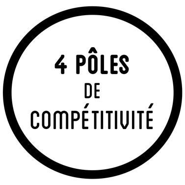 4 pôles de compétitivité