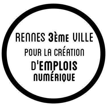 Rennes 3eme ville pour la création d'emplois numérique