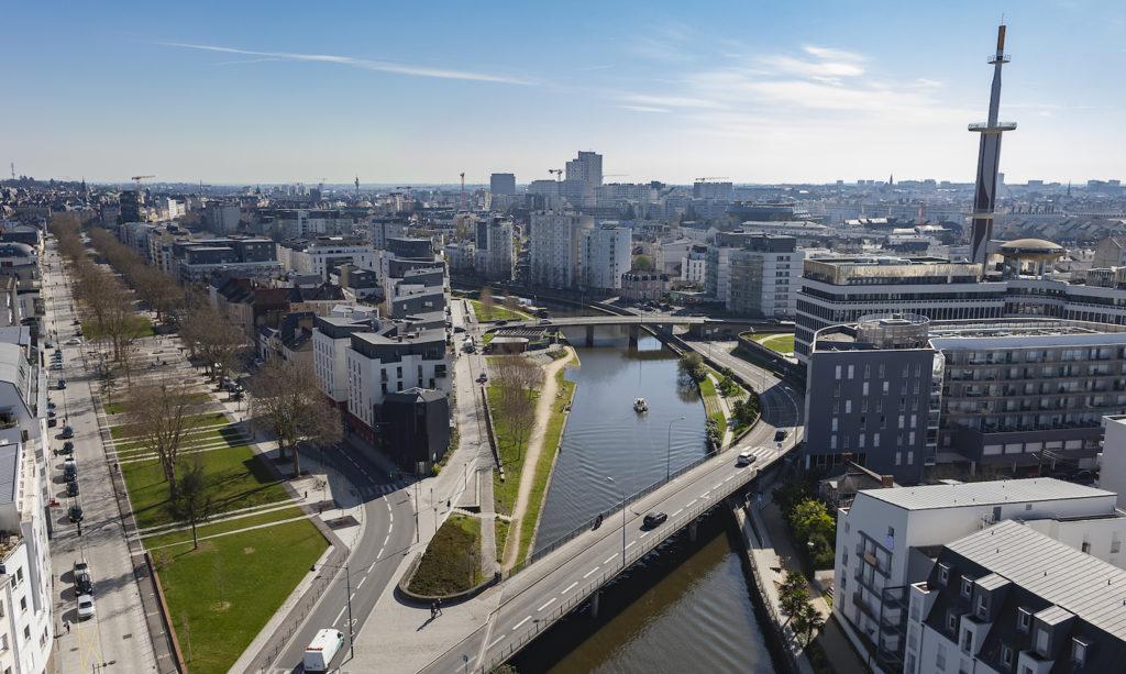 Les quais à Rennes
