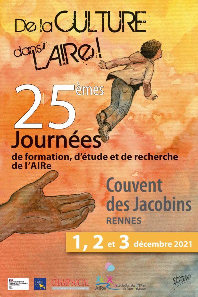 Affiche des 25èmes journées de l'AIRe au Couvent des Jacobins à Rennes