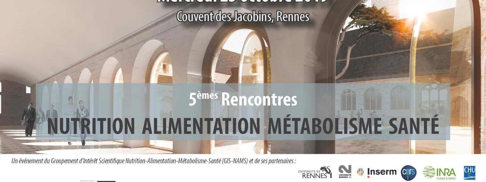5èmes Rencontres Nutrition Alimentation Métabolisme Santé